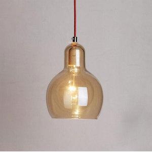 Image 5 - Современный Креативный простой подвесной светильник для столовой, магазина одежды, стеклянная Подвесная лампа в цветочек, E27, декоративная светильник ПА накаливания