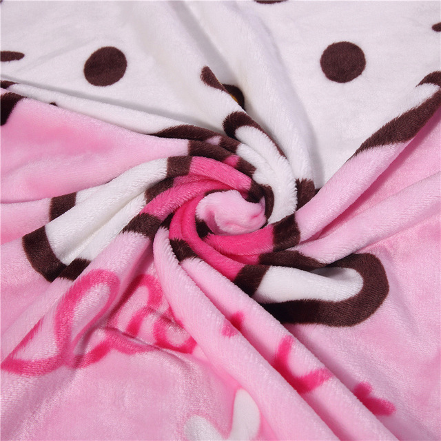 Colorful Baby Nursing Blanket Flannel Throw Blanket Coral Fleece Portable Blankie Swaddling Wrap for Strolling 100x140cm
