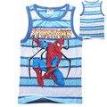 2016 Time-limited Bobo Choses Children Clothing Dinosaur Stripe Design Sleeveless Vest Spiderman Boy's Cotton T Wholesale 398