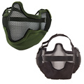 2016 Hot New Arrival Lower Half Face Metal Steel Net Mesh Hunting Tactical Protective Airsoft Mask Gofuly Black/Green