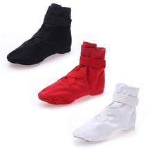 2019 New Hook Loop Type Jazz Dancing Shoes for Women Soft Middle High Boot Girls Street Dance Physique Practice