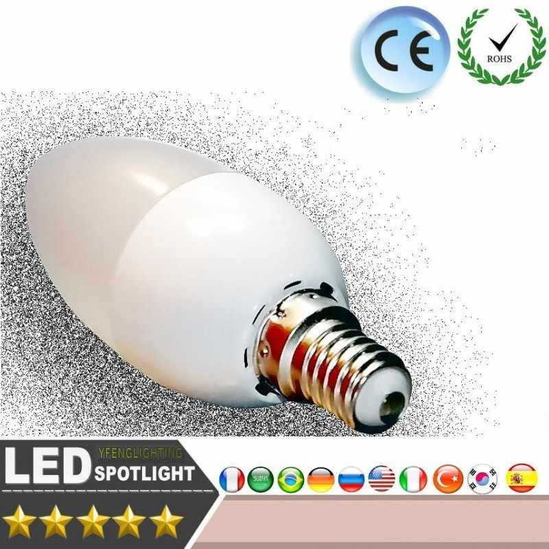 LED Candle light Energy conservation 6W 8W E14 220V CE ROSH Warm/white chandlier crystal Lamp Ampoule Bombillas LED Candle Light