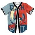 Clothig Dickbutt para Presidente Jersey con botones de Los Hombres de Hip Hop 3d Streetwear top overshirt camisa Casul Camisetas de béisbol