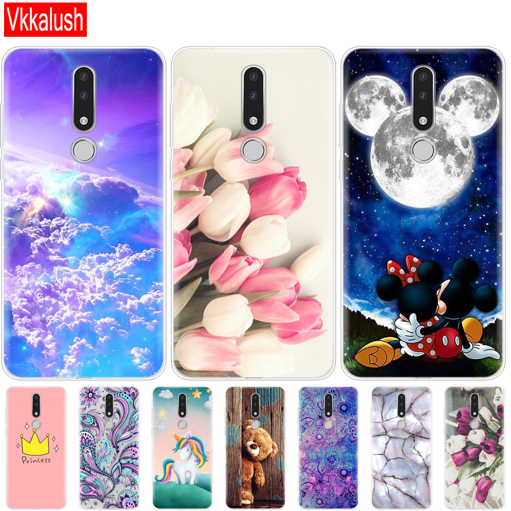 Soft Phone Shell Case For <font><b>Nokia</b></font> <font><b>3.1</b></font> Plus Case <font><b>Cover</b></font> Cartoon Silicon Soft <font><b>Back</b></font> <font><b>Cover</b></font> For <font><b>Nokia</b></font> <font><b>3.1</b></font> Plus 2018 protective shell image