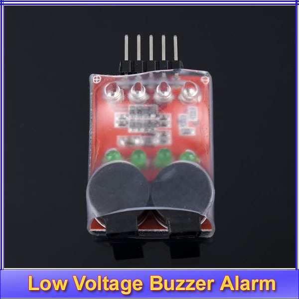5pcs/lot Lipo Battery Low Voltage Buzzer Alarm 7.4V 11.1V 14.8V+Free shipping