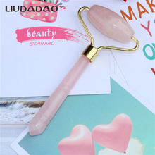 Natural Rose Quartz Face Rollers Lifting Smooth Massager Skin Care Tools Crystal Facial Body Massage