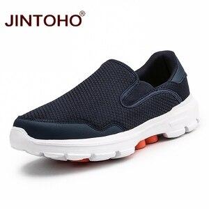 Image 1 - JINTOHO Big Size Zomer Mannen Casual Schoenen Slip Op Mannen Loafers Ademende Mannen Sneakers Toevallige Mannelijke Schoenen Merk Mannelijke Sneakers