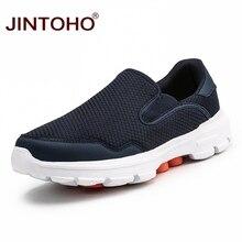 JINTOHO حجم كبير الصيف الرجال حذاء كاجوال الانزلاق على حذاء رجالي تنفس الرجال أحذية رياضية أحذية رجالي غير رسمية ماركة الذكور أحذية رياضية