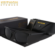 KEITHION TR-90 Original Brand Men Polarized Sunglasses Square Temple Classic Shades Sun glasses UV400 With Case