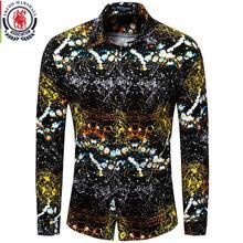 Fredd Marshall Nieuwe 2018 Mannen Merk Kleding Slim Fit Hip Hop Shirt Heren Lange Mouw 3D Print Hawaiian Shirt Casual streetwear 31