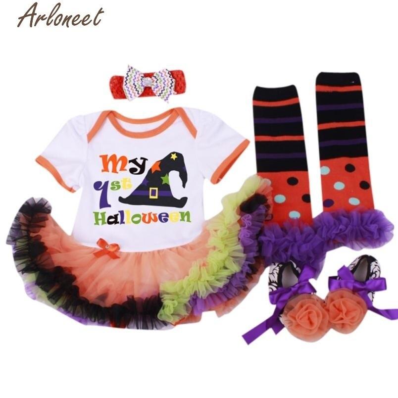ARLONEET Christmas Pajamas Dress For Baby Girls 4PC Baby Girl Prewalker Dress Hairband Socks Floral Romper Bodysuit Dress &