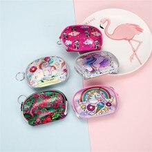 Vogvigo Fashion Home Ladies Coin Storage Bag Mini Cartoon Unicorn Dolphin Printing Change Cute Girl Zipper