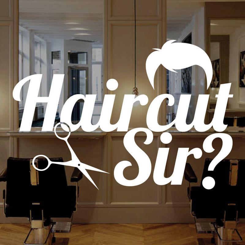 Homme Salon De Coiffure Autocollant Nom Decal Coupe De Cheveux Affiches  Vinyle Mur Art Stickers Décor Windows Décoration Murale