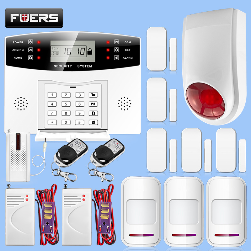 Home Security Alarm System Wireless GSM 433MHZ Alarm System Home Security Protection Detector Alarm Kit
