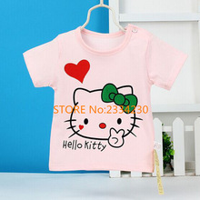Hot Sale Girls Baby T-shirts 2017 High Quality Fashion Kids T-shirts Lovely Casual O-neck Short Sleeve 100% Cotton Kids T-shirt