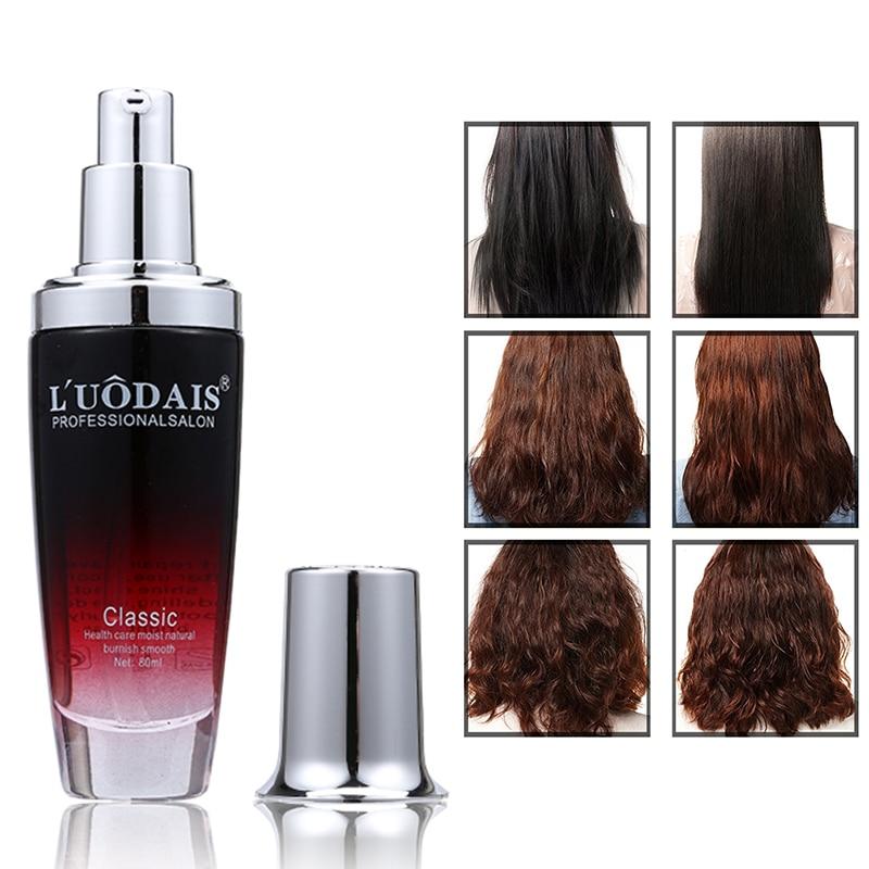 LUODAIS Perfume Hair Oil 80ml Hair Mask Pure Scalp Deep Treatment for Dry Damaged Hair Repair Make It Smooth Shiny Argan Oil цены онлайн