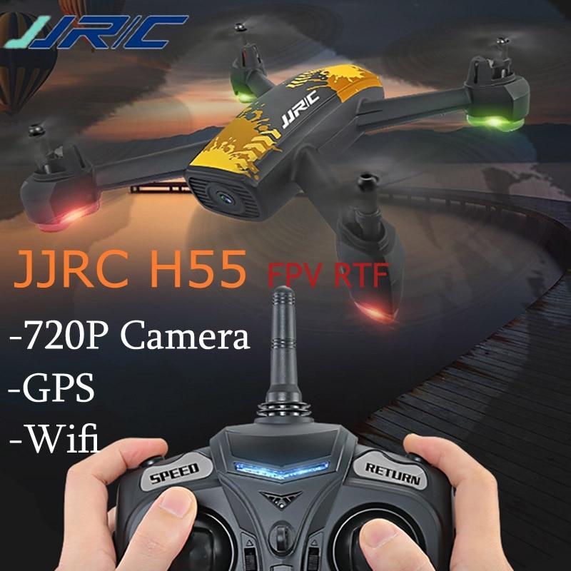 Hot Sale JJRC H55 TRACKER WIFI FPV w/ 720P HD Camera GPS RC Quadcopter Camouflage RTF Camouflage Pattern VS JJPRO P130 E58 gps навигатор lexand sa5 hd