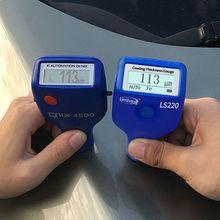 Тестер толщины покрытия краски 0-2000 мкм 0,1 мкм Fe NFe датчик LS220 для авто автомобиля