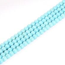 Бисер синий хаулит натуральный камень высокое качество круглые