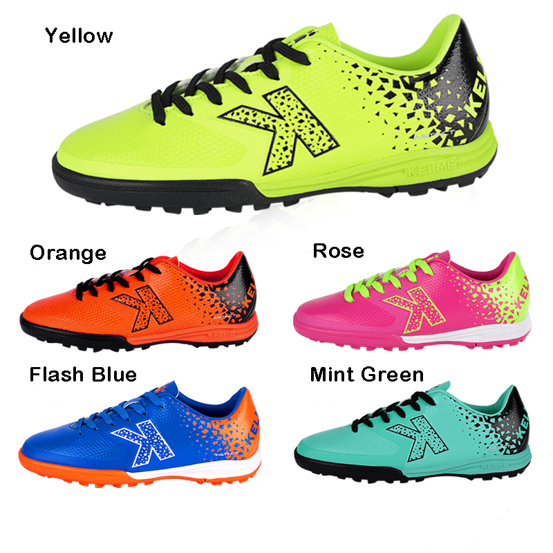 c393073519a KELME Size 30-39 Men Boy Kids Soccer Cleats Turf Football Soccer Shoes TF  Hard Court Sneakers Trainers Football Boots K98C