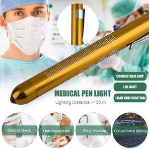 Nouvelle torche chirurgicale médicale de lampe de poche de stylo de Penlight avec léchelle lampe dinspection de soin doreille de bouche de premiers secours offre spéciale