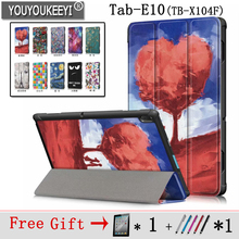 Painted Cover Case for Lenovo tab E10  TB-X104F Slim Magnetic 2018 Released Tablet Tab + 2 Gifts