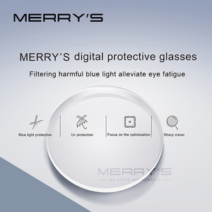 Image 4 - MERRYS Anti Blue Light Series 1.56 1.61 1.67 Prescription CR 39 Resin Aspheric Glasses Lenses Myopia Hyperopia Presbyopia Lens