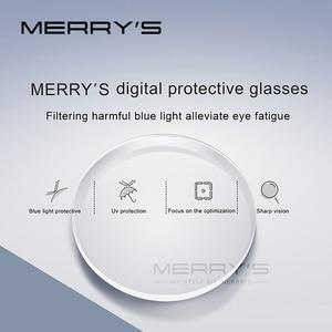 Image 4 - MERRYS Anti mavi işık serisi 1.56 1.61 1.67 reçete CR 39 reçine asferik gözlük lensler miyopi hipermetrop presbiyopi Lens