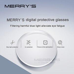 Image 4 - MERRYS анти синий свет Блокировка 1,56 1,61 1,67 по рецепту CR 39 смолы Асферические очки линзы близорукость дальнозоркость Пресбиопия линзы
