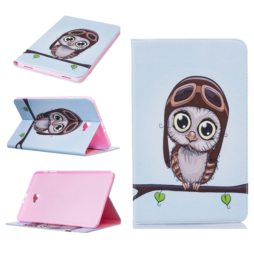 Leather Flip Case For Samsung Galaxy Tab A8.0 T350 A9.7 T550 Tab4 T530 T230 Tabe T560 T700 T800 Stand Case Card Holder