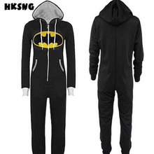 HKSNG New Batman Superman Kigurumi Adult Onesie piżamy plus rozmiar z kapturem Sleepsuit Sleepwear Cosplay na imprezę tanie tanio Pełne Poliester Znaków W HKSNG Hooded