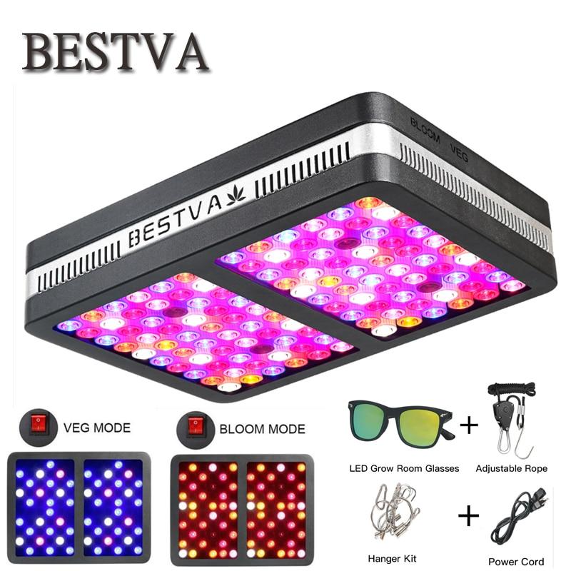 BestVA LED élèvent la lumière Elite-1200W Spectre Complet pour les plantes d'intérieur remplacé 800 w HPS Lumière Veg Bloom deux mode de Serre grandir led