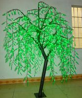 LED Willow Tree Light LED 1080pcs LEDs 2m/6.6FT Green Color Rainproof Indoor or Outdoor Use