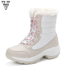 VTOTA Fashion Snow Boots Women Bota Feminina Casual Ankle Boots Warm Fur Women Platform Shoes Comfortable