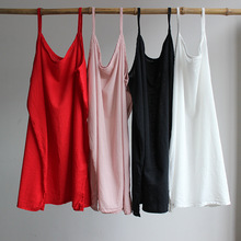 Women Summer Camis&Tanks vests Solid color Cotton Vests cute Causal Tanks 2016