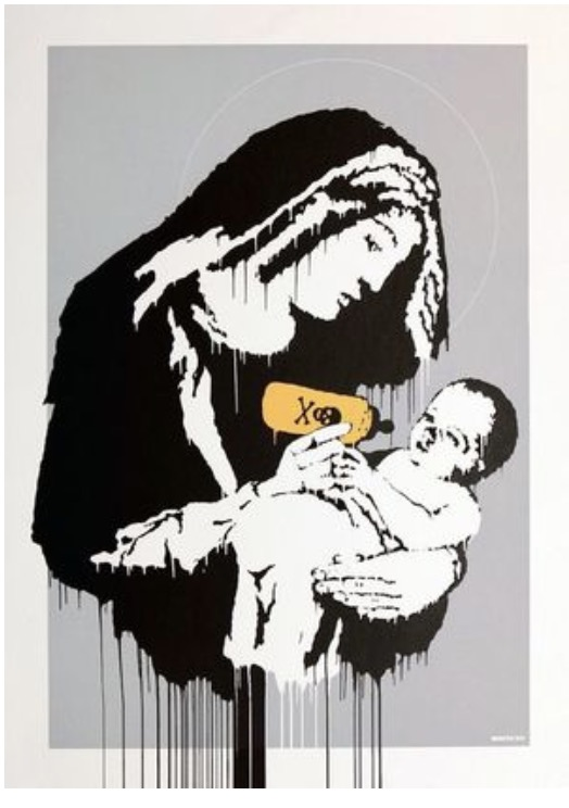 Toxic Mary 2004 Banksy Street Art Decorative Kraft Poster Canvas Painting Wall Sticker Home Decor Gift image
