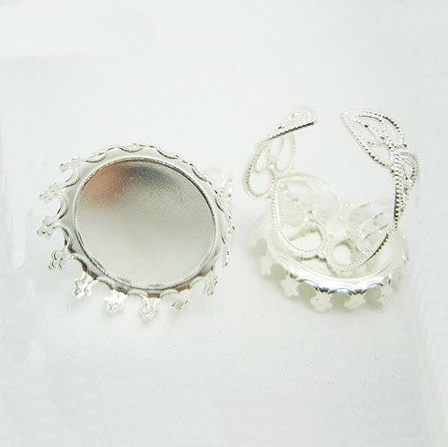 Beadsnice id24970 Лидер продаж латунное кольцо с кольцом заготовок Безопасной никель бесплатно императорская корона кольцо базы для поделок ювели...