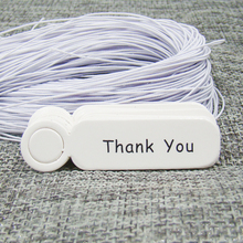 5*1.3cm100pcs white Gift Tags+100pcs elastic string Wedding Favour Personalised Sweet Thank You tags paper products tagging tag