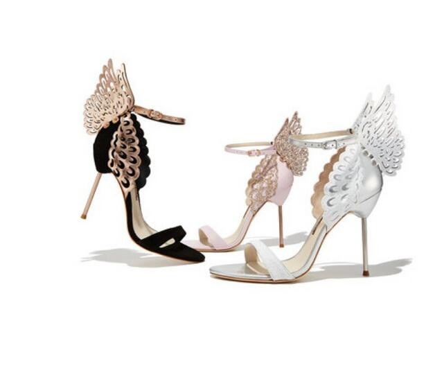 Summer Women Shoes Elegant Buckle Strap Party Peep Toe Butterfly Metal Decoration Super Thin High Heels Women Sandals Free Ship hot women party sandals 2016 summer brand elegant high heels sandalias women s dress shoes sandal sjl342