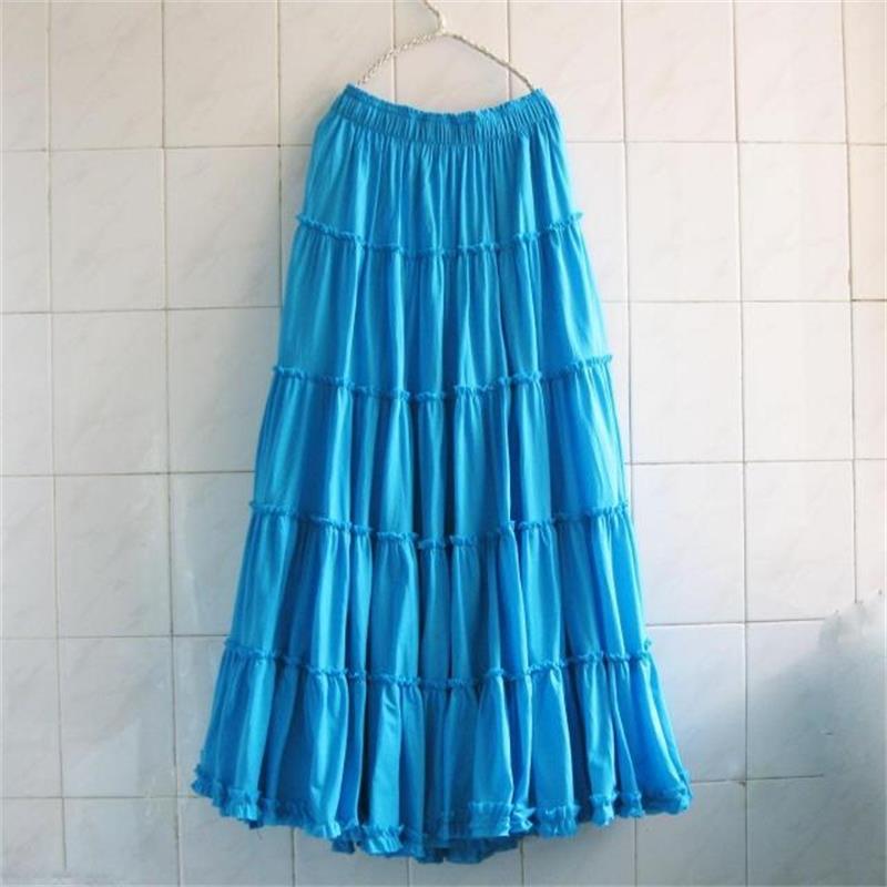 556ed43d6 2019 Bohemia Mujer Faldas largas de playa talla grande verano niñas  volantes falda de playa ...