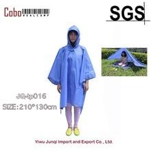 Backpacker 210T Fabric Camping Shelter Tarp and Waterproof Raincoat Sun Shades Shelters Canopy Waterproof