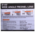 PVC rear window fresnel lens wide angle enlarge mirror film to avoid accidents&low-lying in blind spot behind vehicle backing up