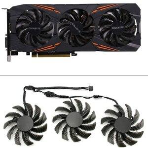 Image 1 - 3pcs 75MM T128010SU Cooling Fans For Gigabyte AORUS GTX 1080 1070 Ti Gaming Fan GTX 1070Ti G1 Gaming GPU Video Card Cooler Fan