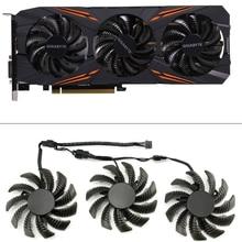 3pcs 75MM T128010SU קירור אוהדי עבור Gigabyte AORUS GTX 1080 1070 Ti משחקי מאוורר GTX 1070Ti G1 משחקים GPU וידאו כרטיס Cooler מאוורר