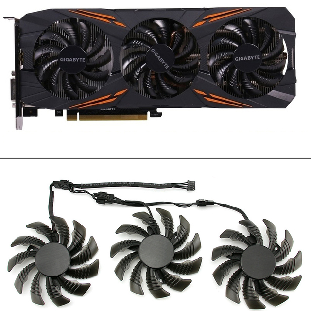 75MM T128010SU Cooling Fan For Gigabyte AORUS GTX 1080 1070 Ti G1 Gaming Fan GTX 1070Ti G1 Gaming Video Card Cooler Fan