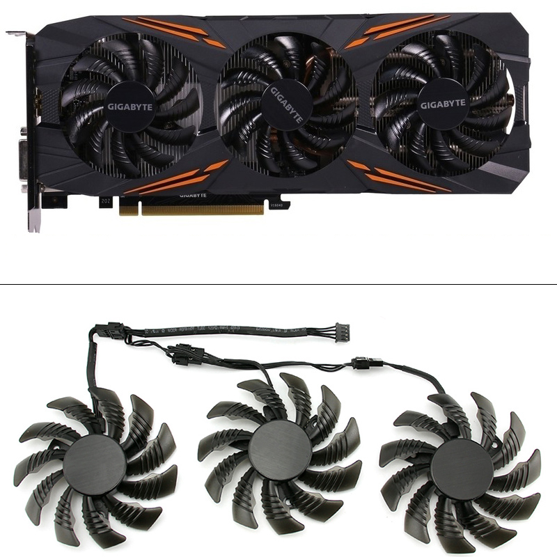 75MM T128010SU PC Cooling Fans For Gigabyte AORUS GTX 1080 1070 Ti G1 Gaming Fan GTX 1070Ti G1 Gaming GPU Video Card Cooler Fan image