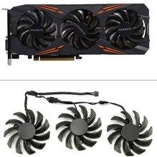 75mm t128010su ventilador de refrigeração para gigabyte aorus gtx 1080 1070 ti g1 gaming fan gtx 1070ti g1 placa de vídeo jogo ventilador mais frio