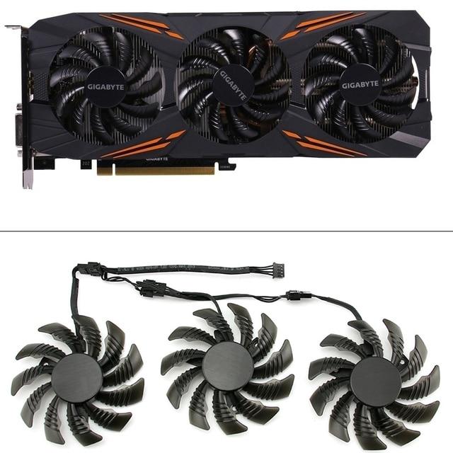 Ventilateur de refroidissement pour jeux vidéo GTX 1080/1070 Ti, 3 pièces, 75MM T128010SU, refroidisseur de carte vidéo GPU pour jeux GTX 1070Ti G1