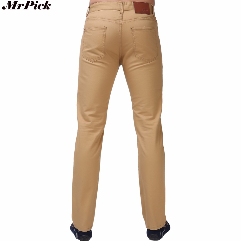 mrpick Straight Casual Jeans Design Men Pants White Blue