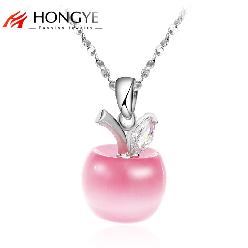2017 Christmas Gift Lovely Cute Pink White Opal Apple Shaped